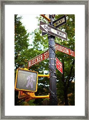 Street Signs In Nyc Framed Print by Thomas Northcut
