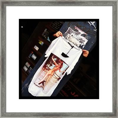 Street Style Shopping. #t-shirt #street Framed Print