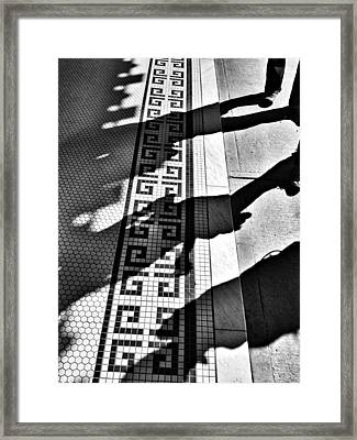 Street To Stone Framed Print by Empty Wall