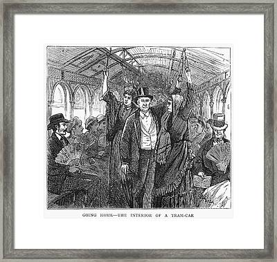 Streetcar, 1876 Framed Print by Granger