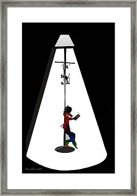Streetlight Reading  Framed Print