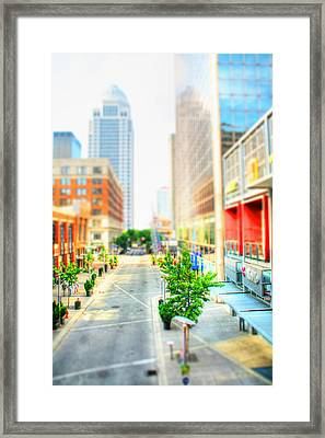 Street's Of Louisville Framed Print