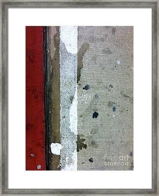 Streets Of New York Abstract Twelve Framed Print by Marlene Burns