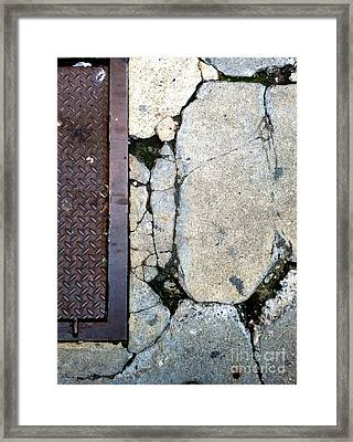 Streets Of New York Abstract Two Framed Print by Marlene Burns