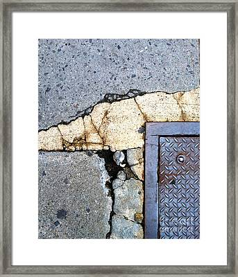 Streets Of Nyc Abstract One Framed Print by Marlene Burns