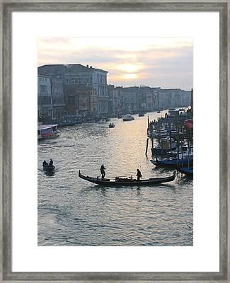 Streets Of Venice Framed Print by Regina  Visconi