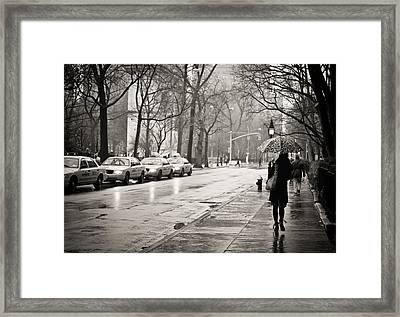 Streets Slick With Promise - Greenwich Village Framed Print by Vivienne Gucwa