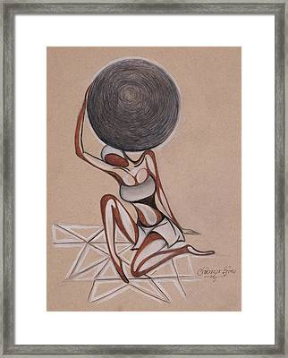 Strenght Of A Woman Framed Print by Chibuzor Ejims