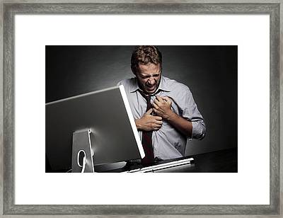 Stress-related Heart Attack Framed Print by Mauro Fermariello
