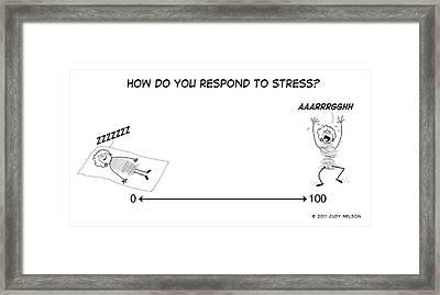 Stress Scale Framed Print