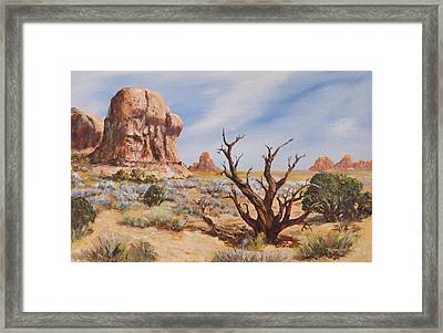 Stressed Into Beauty Framed Print
