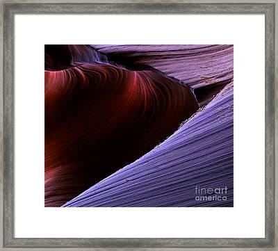 Striations Framed Print by Mike  Dawson