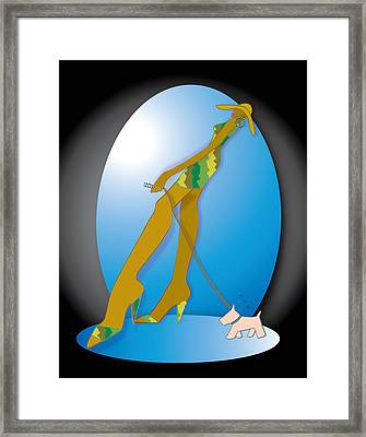 Stride -3 Framed Print
