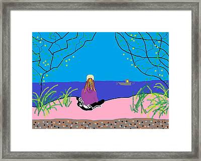 Strike And Me By The Sea Cyprus Framed Print