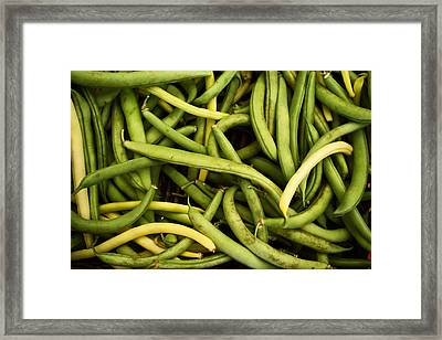 String Beans Framed Print by Tanya Harrison