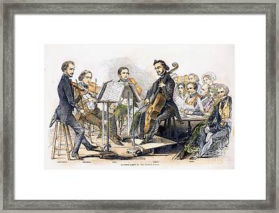 String Quartet, 1846 Framed Print by Granger