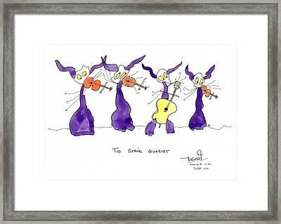 String Quartet Framed Print by Tis Art