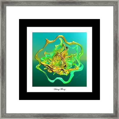 String Theory D Framed Print by Betsy Knapp