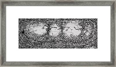String Theory Number 3 Framed Print by Joe Michelli