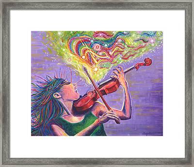 String Theory Unleashed Framed Print by Michaela Sagatova