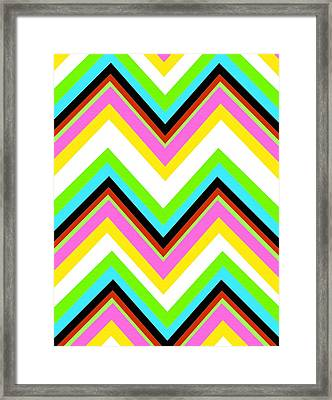 Stripe Framed Print by Louisa Knight