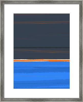 Stripe Orange Framed Print