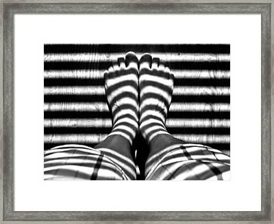 Stripe Socks? Framed Print by David Pantuso