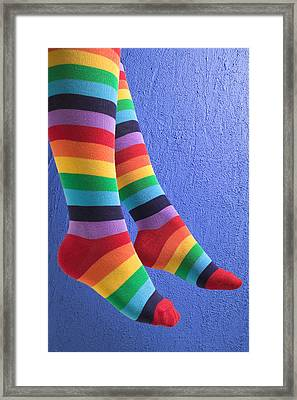 Striped Socks Framed Print by Garry Gay