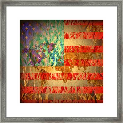 Stripes And Stars  Framed Print by Jerry Cordeiro