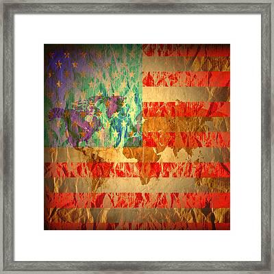 Stripes And Stars  Framed Print