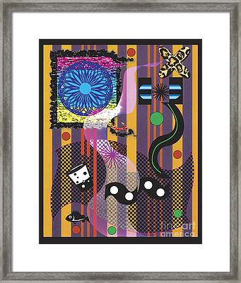 Framed Print featuring the digital art Stripes Design by Christine Perry