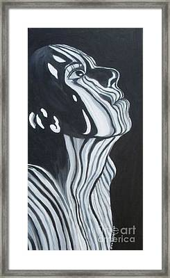 Framed Print featuring the painting Stripes by Julie Brugh Riffey
