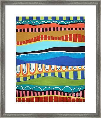 Stripes Framed Print by Karla Gerard