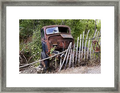 Stripped Framed Print by Peter Chilelli