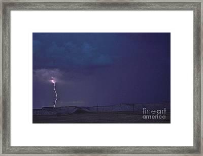 Stroke Of Luck Framed Print by Jim Simak