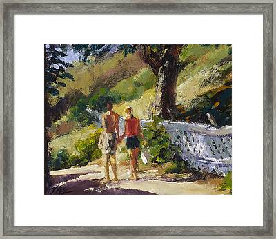 Stroll The Cove Framed Print