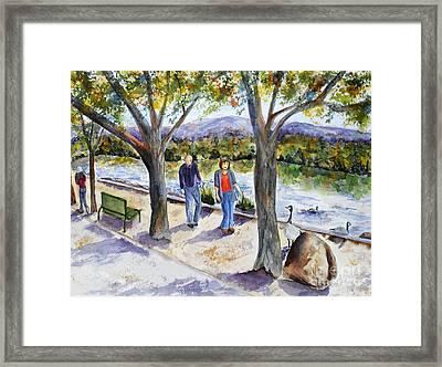 Strolling Virginia Lake Framed Print by Vicki  Housel