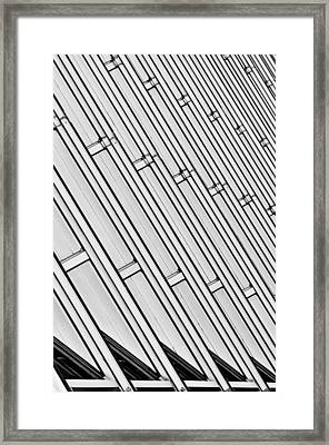 Structural Intrigue Framed Print