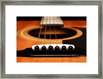 Strum Front Framed Print by Andee Design