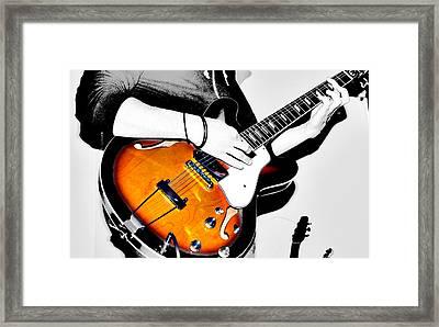 Strummin Dan Framed Print by Empty Wall