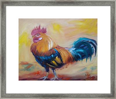 Struttin' My Stuff Framed Print by Donna Tuten