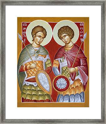 Sts Dimitrios And George Framed Print by Julia Bridget Hayes