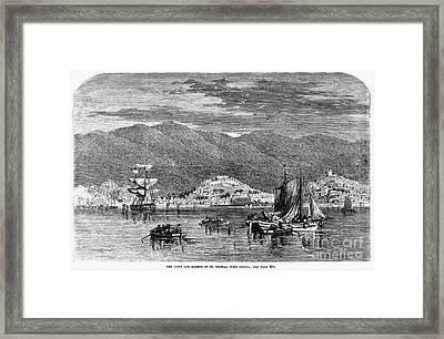 St.thomas, 1868 Framed Print by Granger
