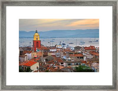 Saint-tropez At Sunset Framed Print