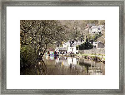 Stubbing Wharf On The Rochdale Canal Framed Print by John Gaffen