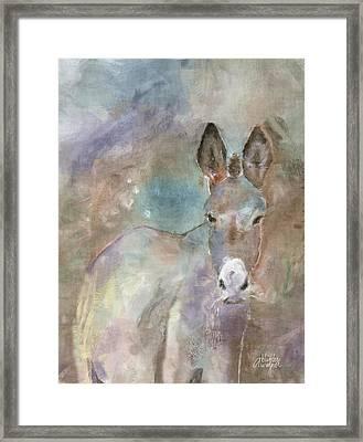 Stubborn Jesse - I'm Not Moving Framed Print by Arline Wagner