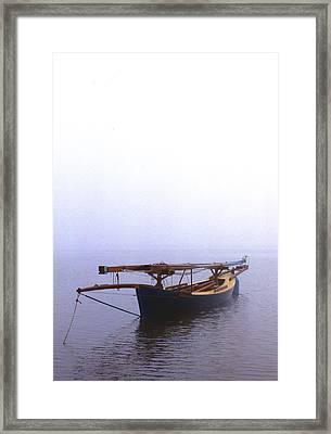 Stuck In Port Framed Print by Skip Willits