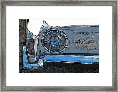 Studebaker Avanti Headlight Framed Print by Samuel Sheats