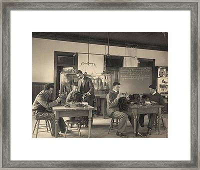 Students Constructing Telephones Framed Print by Everett