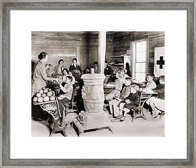 Students In A One-room School Framed Print by Everett